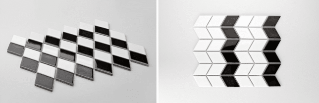 czarno-biała mozaika Raw Decor