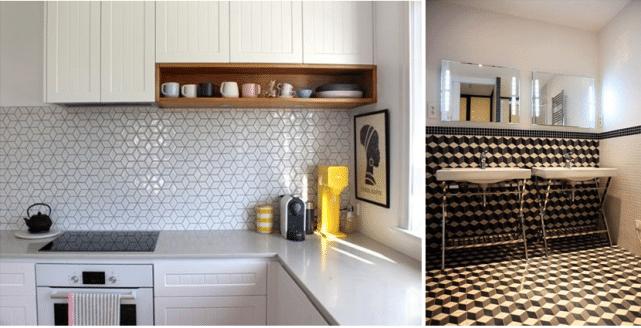 mozaika w kuchni i łazience